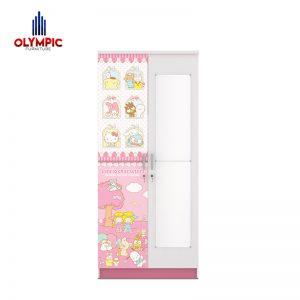 Lemari Pakaian Anak Olympic Original Seri Sanrio 2 Pintu