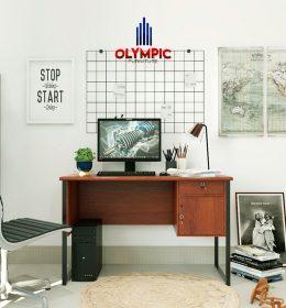 Meja Kerja Olympic Original Murah Seri Titan Brown