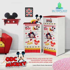 Grosir Lemari Plastik Olymplast Multifungsi Seri ODC Mickey