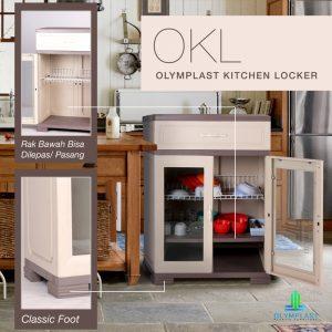 Grosir Locker Plastik Olymplast Simpel Murah Seri OKL A1