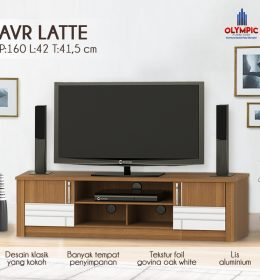 Bufet Lemari Rak TV Olympic Original Seri Latte