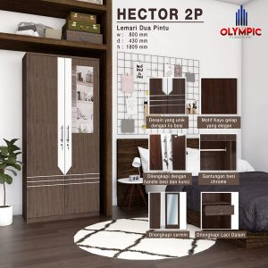 Lemari Olympic Original Murah Seri Hector 2 Pintu