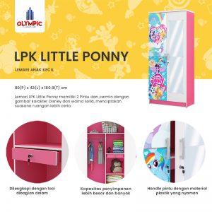 Lemari Pakaian Anak Olympic Murah Seri My Little Ponny 2 Pintu