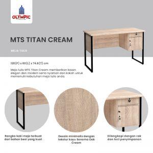 Meja Kerja Olympic Asli Murah Seri Titan Cream