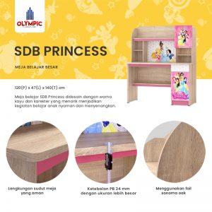 Meja Belajar Olympic Original Seri Princess Besar