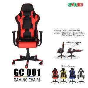 Kursi Gaming Frontline Model Kekinian GC 001