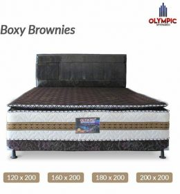 Spring Bed Olympic Asli Seri Boxy Brownies