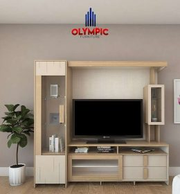 Olympic Gold Series Rak Lemari TV WUH HICKORY