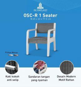 Kursi Plastik OSC R 1 Seater