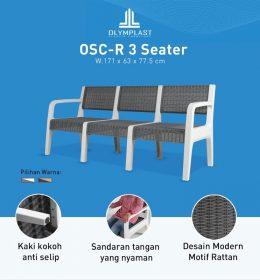 Kursi Plastik OSC R 3 Seater