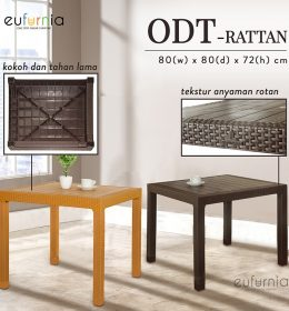 ODT Rattan 80 Olymplast Meja Makan Plastik Rattan